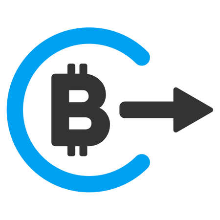 Bitcoin Cashout flat vector pictograph for application and web design.