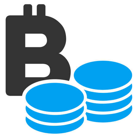 Bitcoin Coins flat vector illustration for application and web design. Illustration