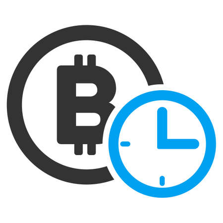 Bitcoin Credit Time flat vector pictogram for application and web design. Illustration
