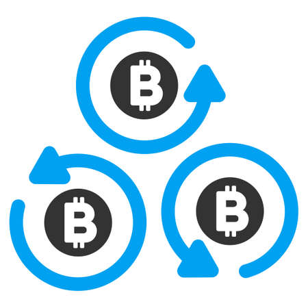 Bitcoin Mixer Rotation flat vector pictogram for application and web design.