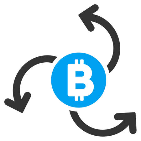 Bitcoin Source Swirl flat vector pictograph for application and web design.