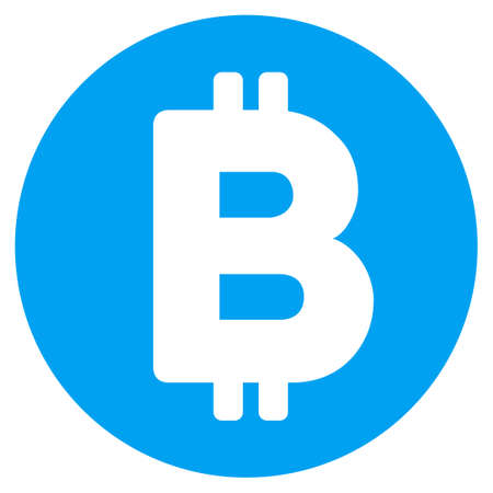 Bitcoin flat vector pictogram for application and web design.