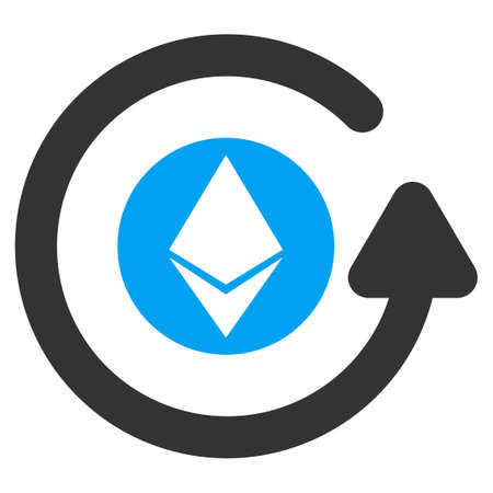 Ethereum Chargeback flat vector icon for application and web design.