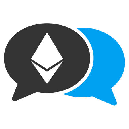 Ethereum Chat flat vector pictogram for application and web design. Illustration