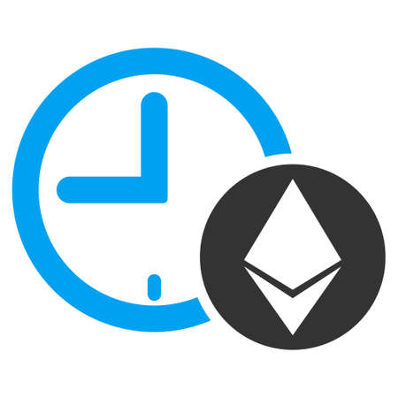 Ethereum Credit Clock flat vector pictograph for application and web design.