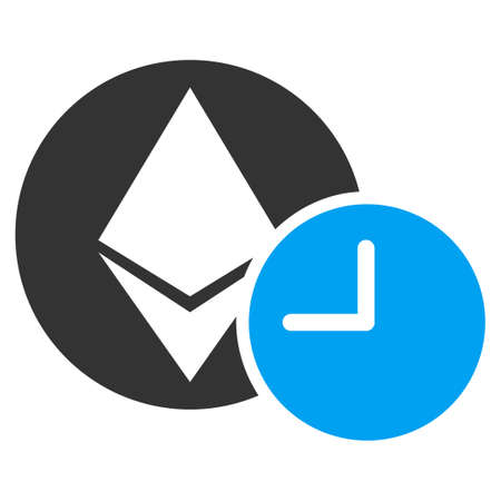Ethereum Credit Clock flat vector icon for application and web design.