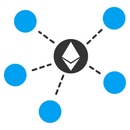 Ethereum Network flat vector illustration for application and web design.