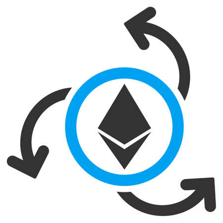 Ethereum Source Swirl flat vector icon for application and web design.
