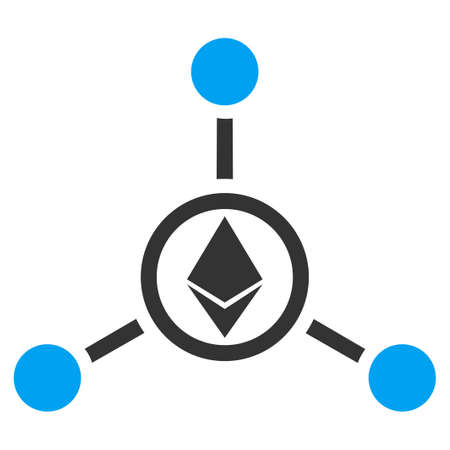 Ethereum Relations flat vector pictograph for application and web design.