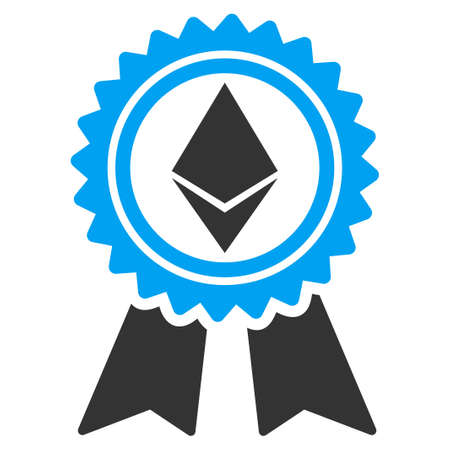 Ethereum Reward Medal flat vector illustration for application and web design. Illustration