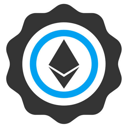 Ethereum Seal flat vector illustration for application and web design. Illustration