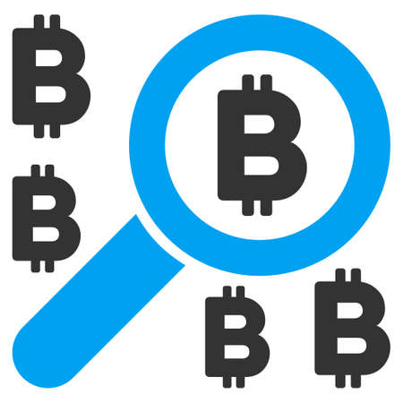 Find Bitcoin flat vector pictograph for application and web design.