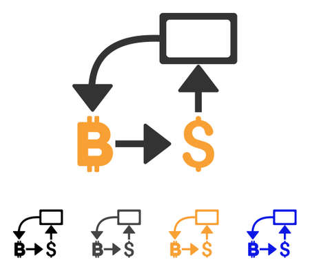 Bitcoin Dollar Flow Chart Icon Vector Illustration Style Is