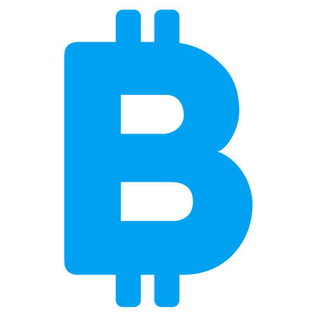 Bitcoin Letter flat raster pictograph for application and web design. Zdjęcie Seryjne