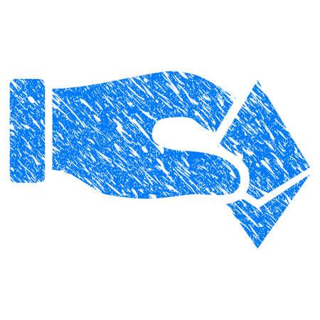 zafiro: Icono de Grunge Hand Take Ethereum con diseño grunge y textura sucia. Pictograma azul raster borroso para sellos de goma imitaciones y marcas de agua. Proyecto de símbolo de la pegatina. Foto de archivo
