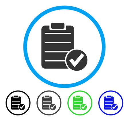 Apply Form rounded icon. Vector illustration style is a flat iconic symbol inside a circle, black, gray, blue, green versions. Designed for web and software interfaces. Vektoros illusztráció