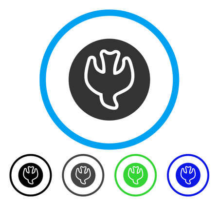 Falling Soul rounded icon. Vector illustration style is a flat iconic symbol inside a circle, black, gray, blue, green versions. Designed for web and software interfaces. Illustration