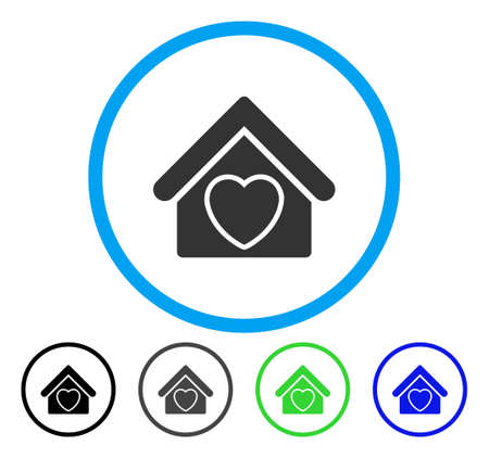 Hospice rounded icon. Vector illustration style is a flat iconic symbol inside a circle, black, grey, blue, green versions. Designed for web and software interfaces.