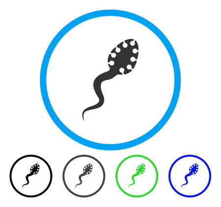infectious: Infectious Microbe rounded icon. Vector illustration style is a flat iconic symbol inside a circle, black, gray, blue, green versions. Designed for web and software interfaces.