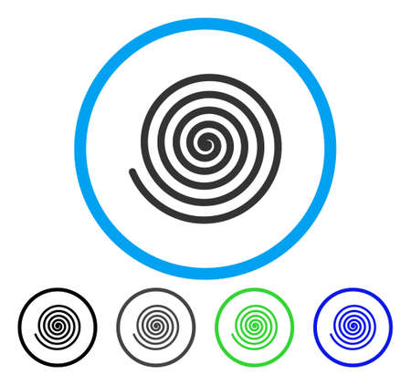 Hypnosis rounded icon. Vector illustration style is a flat iconic symbol inside a circle, black, gray, blue, green versions. Designed for web and software interfaces. Illustration