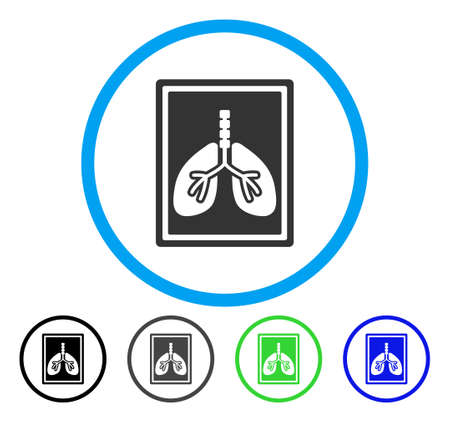 Lungs X-Ray Photo rounded icon. Vector illustration style is a flat iconic symbol inside a circle, black, grey, blue, green versions. Designed for web and software interfaces. Illustration