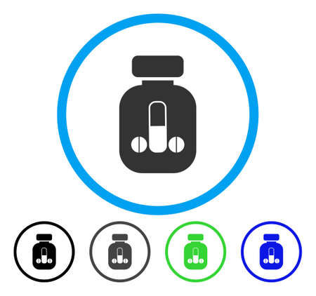 impotence: Male Medicine rounded icon. Vector illustration style is a flat iconic symbol inside a circle, black, grey, blue, green versions. Designed for web and software interfaces.