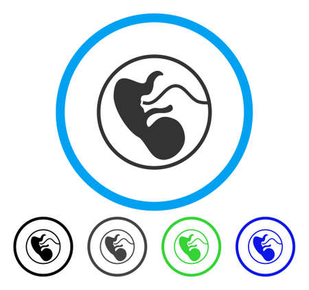 Pregnancy rounded icon. Vector illustration style is a flat iconic symbol inside a circle, black, grey, blue, green versions. Designed for web and software interfaces.