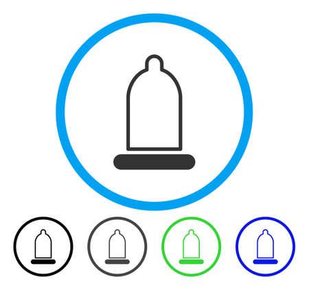 Conservateur icône arrondie. Style d'illustration vectorielle est un symbole plat emblématique à l'intérieur d'un cercle, versions noir, gris, bleu, vert. Conçu pour les interfaces Web et logicielles.