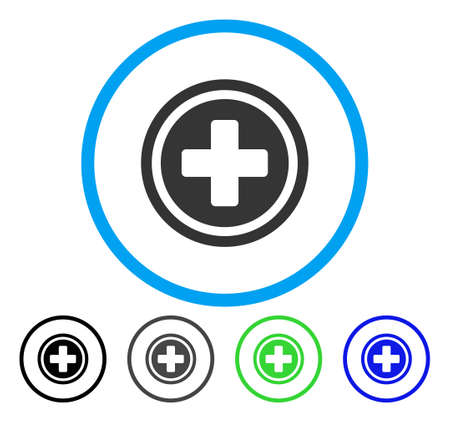 Rounded Cross Rounded Icon Vector Illustration Style Is A Flat