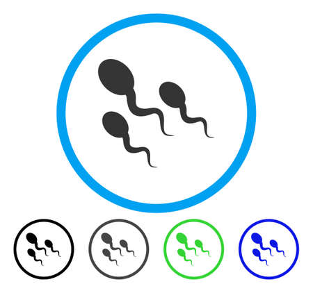 Sperm rounded icon. Vector illustration style is a flat iconic symbol inside a circle, black, grey, blue, green versions. Designed for web and software interfaces. Illustration