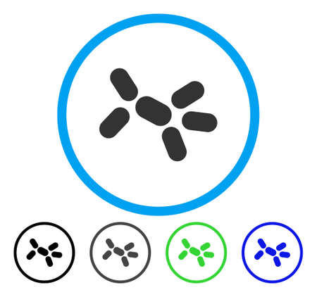Yeast rounded icon. Vector illustration style is a flat iconic symbol inside a circle, black, grey, blue, green versions. Designed for web and software interfaces. Illustration