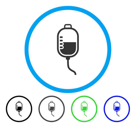Therapy Dropper rounded icon. Vector illustration style is a flat iconic symbol inside a circle, black, grey, blue, green versions. Designed for web and software interfaces.