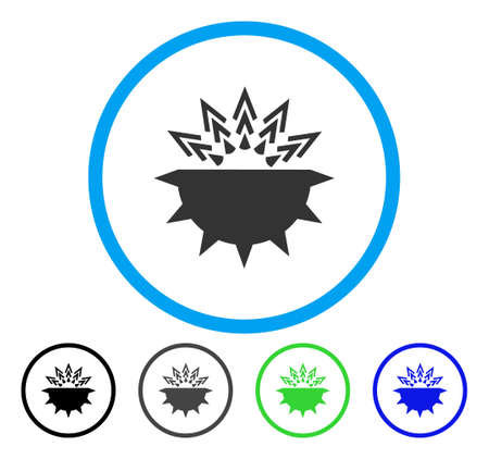 Viral Structure rounded icon. Vector illustration style is a flat iconic symbol inside a circle, black, gray, blue, green versions. Designed for web and software interfaces. Illustration