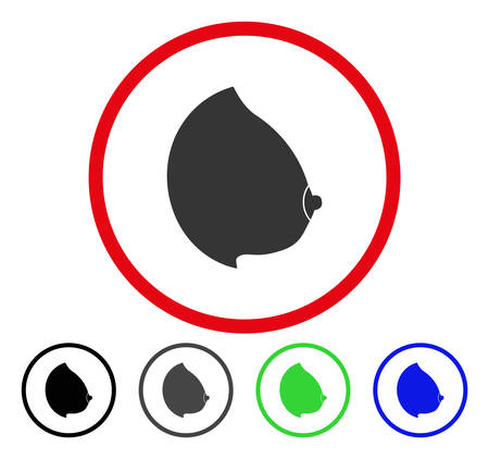 Female Tit rounded icon. Vector illustration style is a flat iconic symbol inside a red circle, with black, grey, blue, green versions. Designed for web and software interfaces.