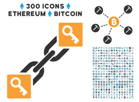 latchkey: Key Blockchain pictograph with 300 blockchain, cryptocurrency, ethereum, smart contract symbols. Vector pictograph collection style is flat iconic symbols.