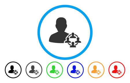 政治の丸めベクトルのアイコン。画像のスタイルは、青い円の中フラット グレーのアイコンのシンボルです。他の色のバージョンはグレー、ブラッ