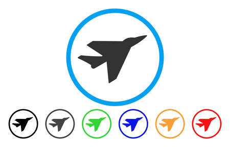 usaf: Intercepter vector rounded icon. Image style is a flat gray icon symbol inside a blue circle. Bonus color variants are gray, black, blue, green, red, orange.