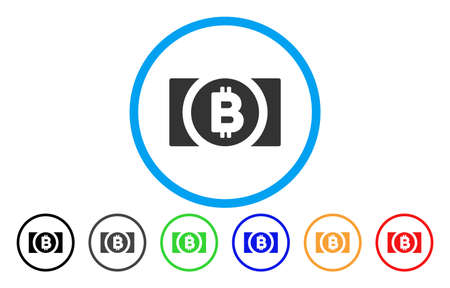 Bitcoin Cash flat vector pictograph for application and web design.