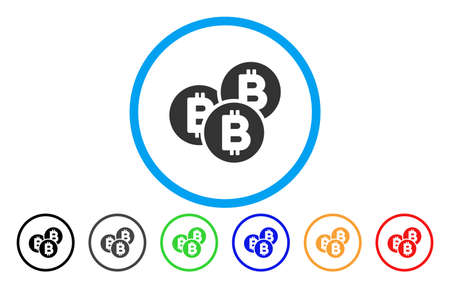 Bitcoin Coins flat vector icon for application and web design. Ilustracja