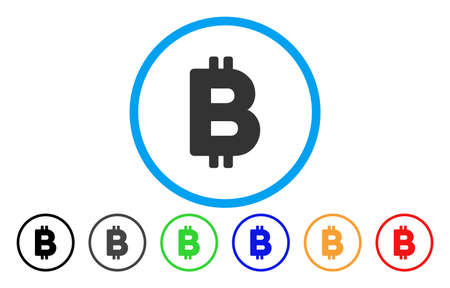 Bitcoin Letter flat vector pictogram for application and web design.