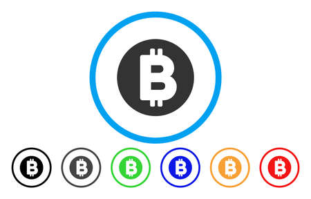 Bitcoin flat vector pictograph for application and web design. Ilustracja