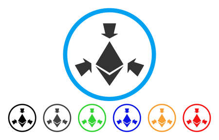 Ethereum Collect Arrows flat vector pictogram for application and web design.