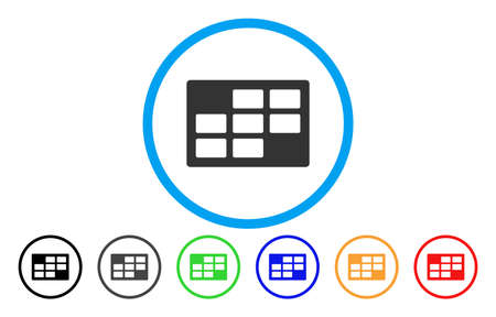 Calendar table rounded icon. Illustration