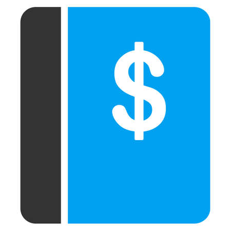 Accounting Book vector icon. Flat bicolor blue and gray symbol. Pictogram is isolated on a white background. Designed for web and software interfaces.