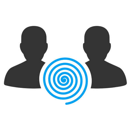 Hypnosis Sect vector icon. Flat bicolor blue and gray symbol. Pictogram is isolated on a white background. Designed for web and software interfaces. Çizim