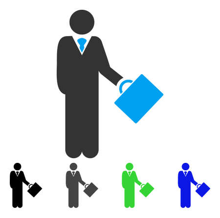 moneymaker: Businessman vector pictogram. Style is a flat graphic symbol in black, gray, blue, green color versions. Designed for web and mobile apps. Illustration