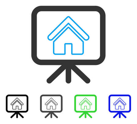 House Project vector icon. Style is a flat graphic symbol in black, grey, blue, green color versions. Designed for web and mobile apps.