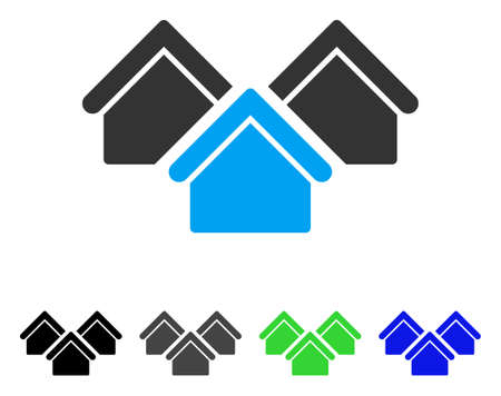 Real Estate vector icon. Style is a flat graphic symbol in black, grey, blue, green color variants. Designed for web and mobile apps. Illustration
