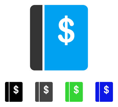 Accounting Book vector pictogram. Style is a flat graphic symbol in black, gray, blue, green color versions. Designed for web and mobile apps.