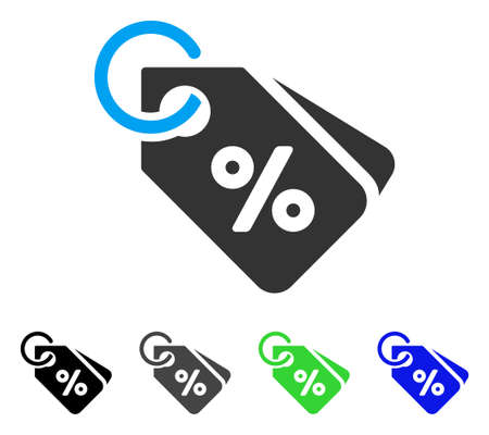 Discount Tags vector pictograph. Style is a flat graphic symbol in black, grey, blue, green color versions. Designed for web and mobile apps.